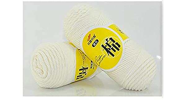 Shoppy Star - Ovillo de Lana de algodón Grueso para Tejer a Mano de 100% algodón, 50 g/Bola, Hilo Suave para bebé: Amazon.es: Hogar
