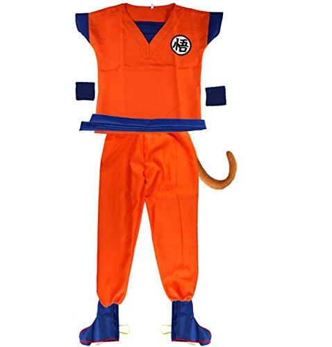 NSOKing 7Pcs Japanese Dragon Ball Z Cosplay Costume Kids Children Adult Uniform Outfit (XXL(Height 66.9