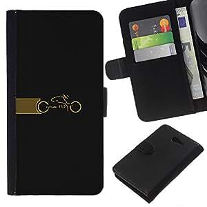 KLONGSHOP // Tirón de la caja Cartera de cuero con ranuras para tarjetas - Ciclo Tr0n - Sony Xperia M2 //