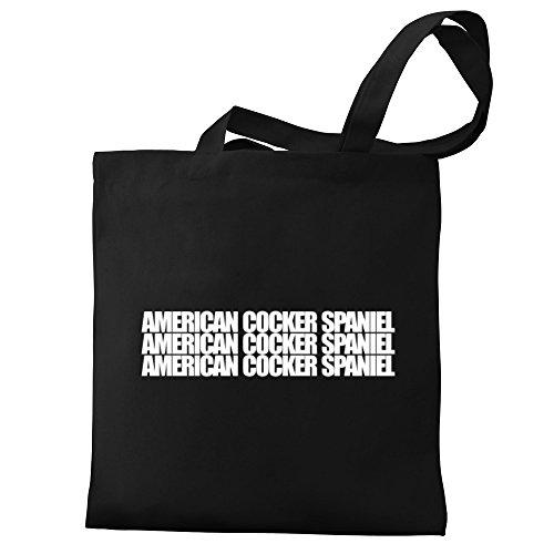 Tote Eddany Cocker Canvas Bag three Spaniel American American Eddany words 8UxwTUZ