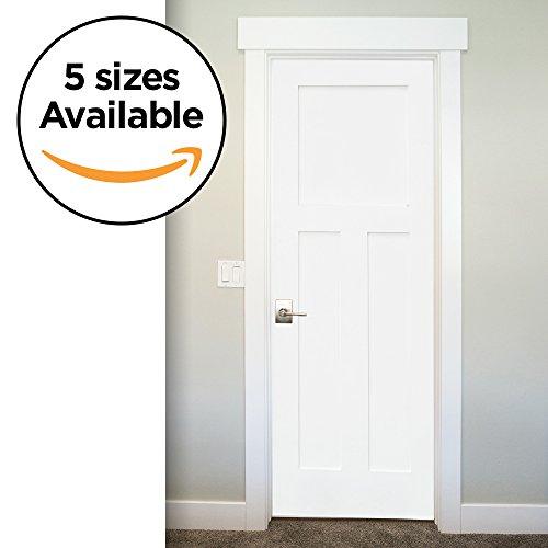 Three Panel Solid Wood - 3-Panel Door Slab, Shaker Primed Solid Core MDF Interior, By Stile Doors (32x80-Inch)