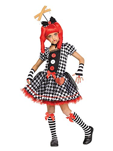 Scary Doll Costumes For Kids - Fun World Marionette Doll Child Costume,
