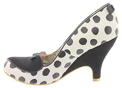 negro vestir Blanco y para de de Zapatos Irregular blanco mujer Piel Choice qgSgyPp1