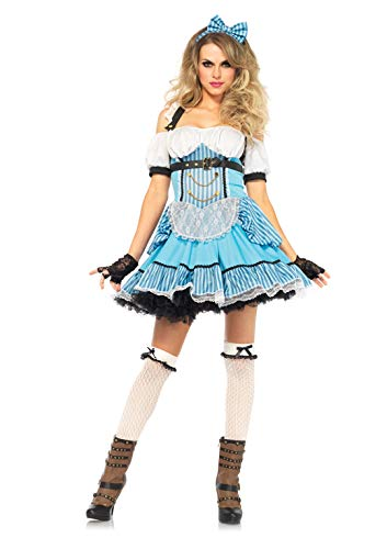 Rebel Halloween Costume (Leg Avenue Women's Rebel Alice, Blue/White,)
