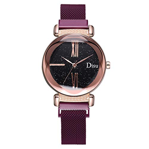 Aoesila Simple Starry Sky Flower Glass Dial Quartz Watch Magnetic Buckle Ladies Watch Meticulous Watch