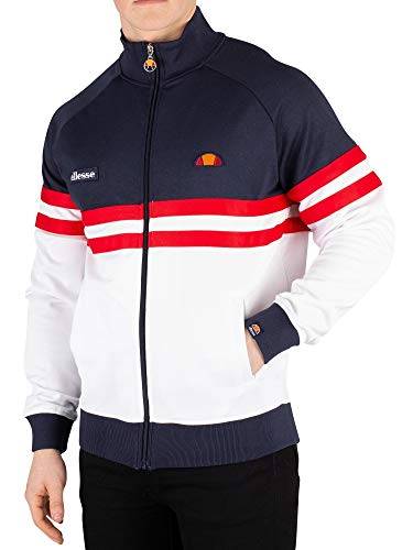 (ellesse Men's Rimini Track Jacket, Blue, L)