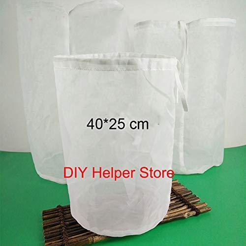 Casavidas 40 * 25 cm 120 Malla Nylon Colador Bolsa de filtro para mermeladas de jalea Vino Cerveza Saltos Café Hacer...