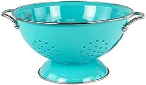 Calypso Basics by Reston Lloyd Powder Coated Enameled Colander, 3-Quart, Turquoise
