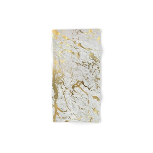 Society6 Gold Marble Hand Towel 30