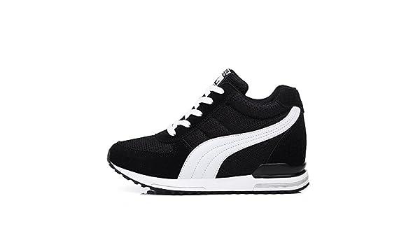 FYQ & D.a ascensor Zapatillas deportivas Zapatillas de running amortiguación zapatos negro negro Talla:35: Amazon.es: Deportes y aire libre