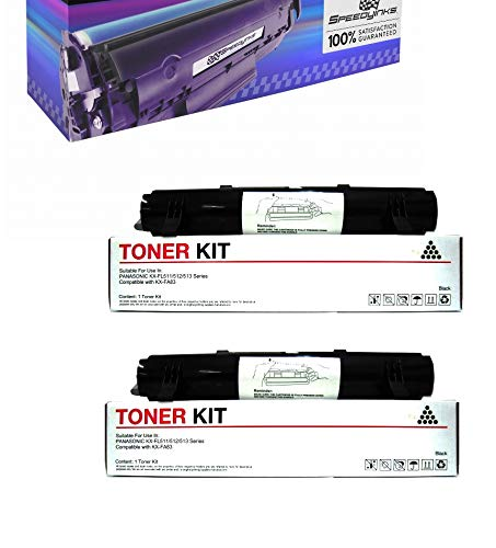 Speedy Inks Compatible Toner Cartridge Replacement for Panasonic KX-FA83 (Black, 2-Pack)