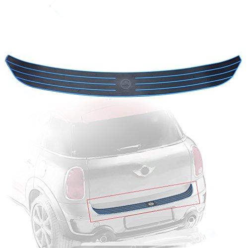 Casking Rear Bumper Trunk Load Edge Anti-Scratc Guand Trim Rubber Strip for MINI Cooper Countryman R60 (Blue)