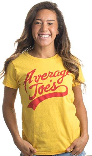 Average Joes | Funny Dodgeball Team Sports Jersey Ladies' T-shirt-Yellow, S
