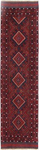 - Tribal Handmade Runner 2' x 8' Reds Mashwani Char Aimaq Rug
