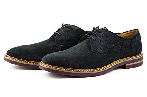 Base London - Zapatos de cordones para hombre azul azul marino KLSoz11l2