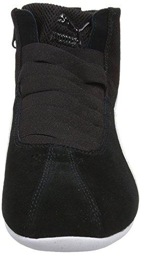 Damen Black Textured Puma Noir Eskiva Mid schwarz Sneaker qwS7trw