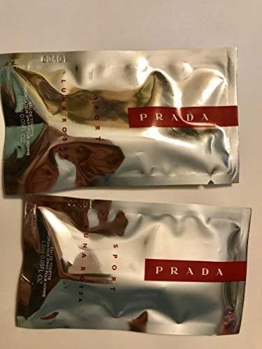 Prada Luna Rossa Perfume EDT Cologne Travel Size Spray Vial Sample LOT of 2