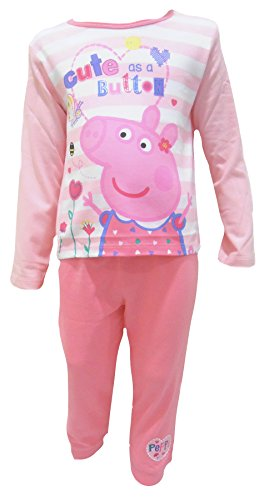 Peppa Pig Cute as a Button Little Girls Pajamas 4-5 Years