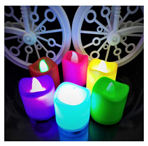 AFTERSTITCH Plastic Decorative LED Dancing Candles Lights Diya for Home Decoration (Batteries Included) Pack of 6…