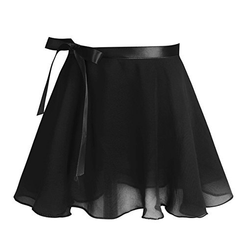 Girls Dancing Dress Leotard TiaoBug Cotton Black Dance Chiffon with Ballet Gymnastics Short Sleeves H6dqqSxw