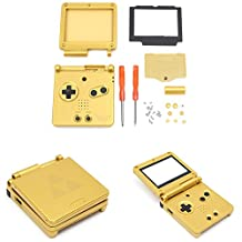 GBA SP Game Boy Advance SP Replacement Housing Shell Case Screen Lens -Zelda Golden Limited Edition