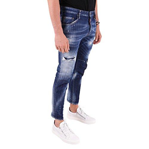 Cotone Blu S71lb0490s30342470 Uomo Jeans Dsquared2 nFw80xq7gc