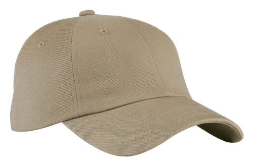 Port Authority Twill Cap - Port Authority BTU Brushed Twill Cap - Khaki - OSFA