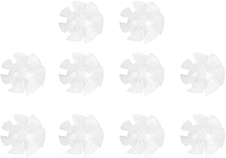 US 10Pcs Small Power Plastic Fan Blades Seven Leaves Genuine for Hairdryer Motor