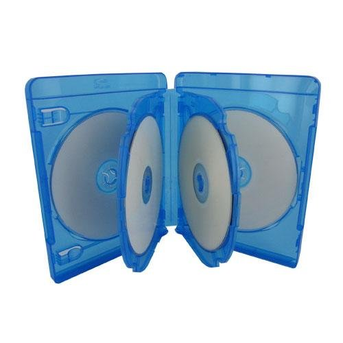 Capacity Blu Ray - (30) Empty 21mm Thick 6 Disc Capacity - Blue Replacement Boxes / Cases for Blu-Ray DVD Movies - Holds 6 Discs BR6R21BL