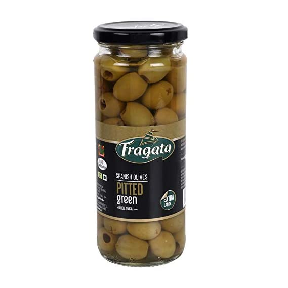 Fragata Pitted Green Olives 440g