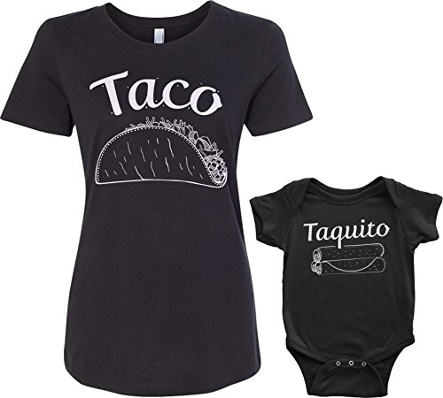 Threadrock Taco & Taquito Infant Bodysuit & Women's T-Shirt...