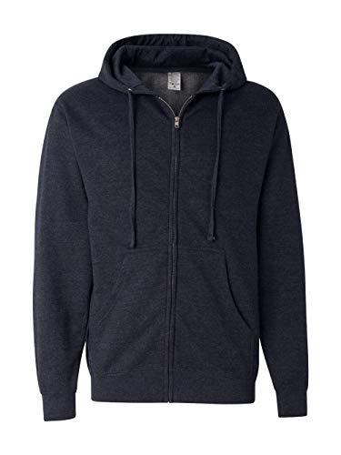 Heavyweight Zip Hood - Independent Trading Co. Midweight Zip Hood Sweatshirt SS4500Z-NvyHth-MD