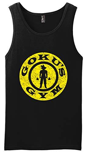 New York Fashion Police Goku's Gym Tank Top Anime Shirt Manga Workout Tee Distressed Black M