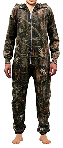 SKYLINEWEARS Men's Onesie Jumpsuit one Piece Non Footed Pajamas Woodland L]()
