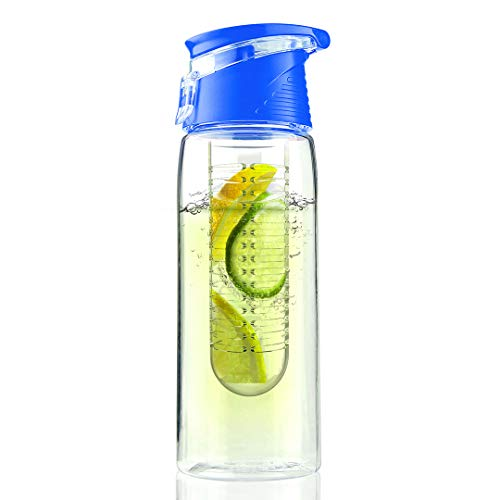 - Asobu BTA711S-8573 Flavor It Infuser Water Bottle Pure Fruit Flavour 2 Go, Blue,20 oz