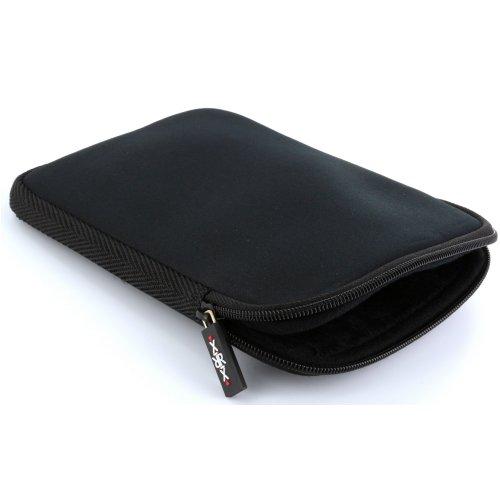 XiRRiX Tasche aus Neopren mit Reißverschluss für eBook-Reader Größe 6 Zoll (15,24cm) - Hülle in schwarz