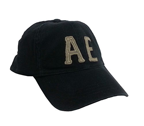 American Eagle Baseball Hat (American Eagle Outfitters Black/Light Brown AE Logo Baseball Cap S/M)