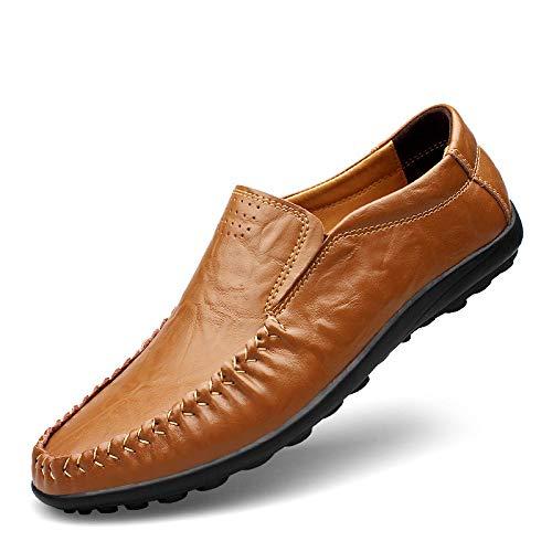 Moda Peas Men Genuine Leather Men Casual Shoes Brown3