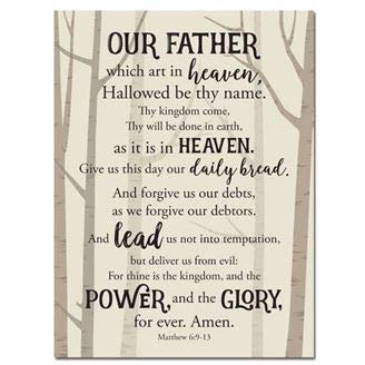 African American Expressions - Lord's Prayer Wall Plaque (9