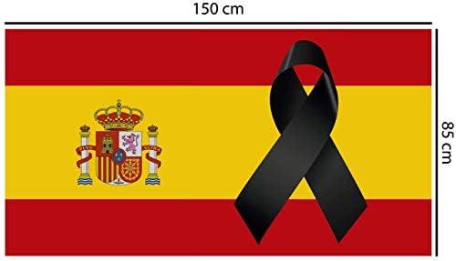 Oedim Bandera de España con Crespón | Medidas 85x150 cm | Textil Bandera de España con Crespón | Bandera con 4 Ojales Metálicos | Resistente al Agua: Amazon.es: Hogar