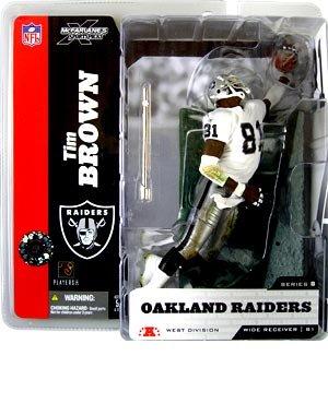Tim Brown Oakland Raiders Variant White top McFarlane (Tim Brown Nfl)