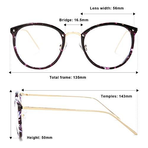 6211049accec VANLINKER Clear Lens Eyeglasses Anti Blue Light Computer Reading Glasses  VL9001 C9 Purple marble frame