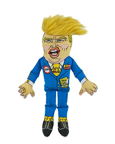 FUZZU Mr. Donald Trump Parody Dog Toys with Squeaker - Small to Extra Large Dog (27