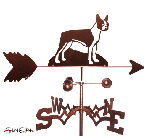 - Hand Made BOSTON TERRIER DOG GARDEN Stake Weathervane ~NEW~