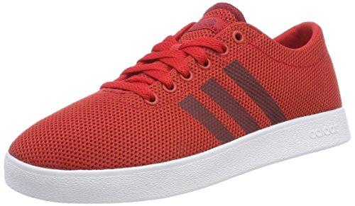 adidas Herren Easy Vulc 2.0 Gymnastikschuhe Rot (Scarlet/collegiate Burgundy/ftwr White Scarlet/collegiate Burgundy/ftwr White)