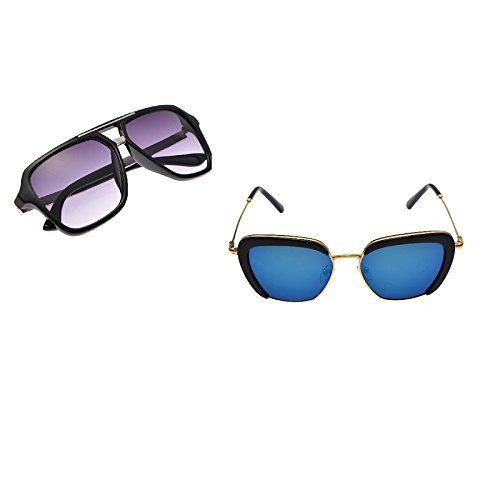 Uni sex Square Framed ReTRo Sunglasses- Buy 1 get 1 free Summer - Get Hut Sunglass One One Buy
