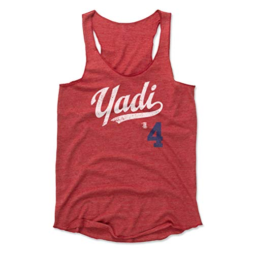 - 500 LEVEL Yadier Molina Women's Tank Top Small Red - St. Louis Baseball Women's Apparel - Yadier Molina Yadi Players Weekend B WHT