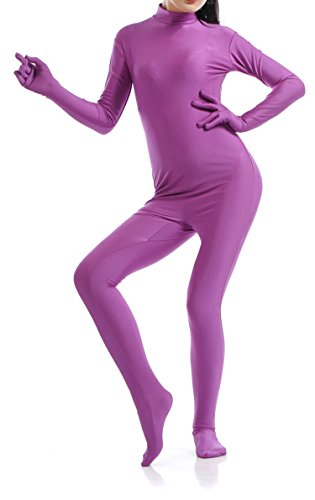 VSVO Unisex Skin-Tight Spandex Full Body Suit for Adults and Children (Medium, Purple) (Purple Morphsuit)