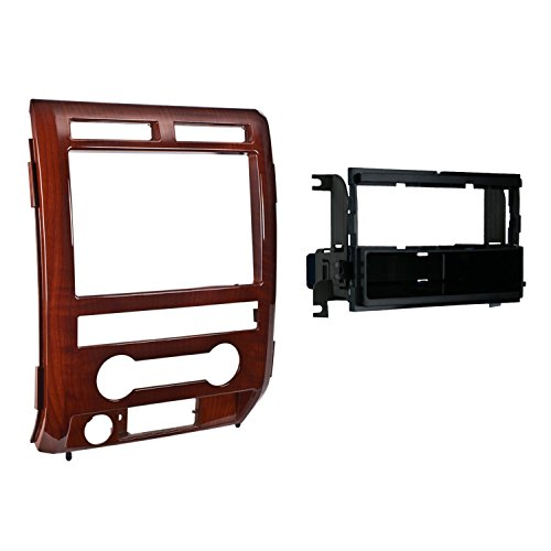 - Metra 99-5822MM Single DIN Installation Dash Kit for 2009-2010 Ford F-150 Lariat, Midland Maple