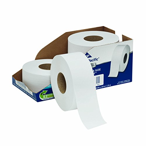 - Georgia-Pacific 2172114 Professional Series Jumbo Jr. 2-Ply Toilet Paper by GP PRO, 1, 000' Per Roll, 4 Rolls Per Case, Pathways (Pack of 4)